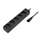Surge Protector for UPS, 0.5m, 5 Sockets, Sven Special, BLACK, flame-retardant material